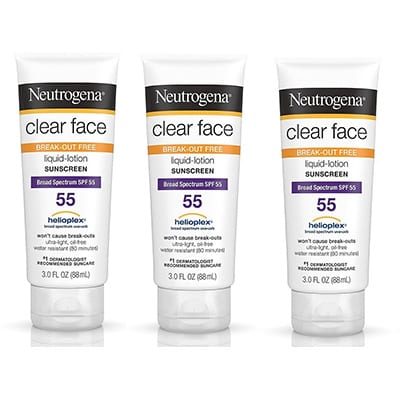 Best Sunscreen for Oily Skin Neutrogena Clear Face Sunscreen
