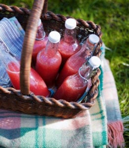 Picnic Recipe Watermelon and strawberry crush drink