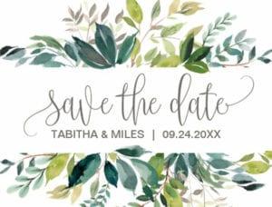 Save The Date Foliage / Zazzle