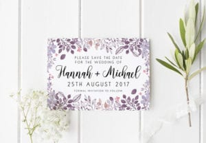 Save The Date Pretty Floral