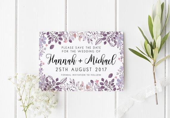 Save The Date Wedding Invite Inspo Pretty Floral