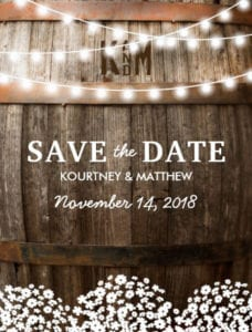 Save The Date Rustic Country