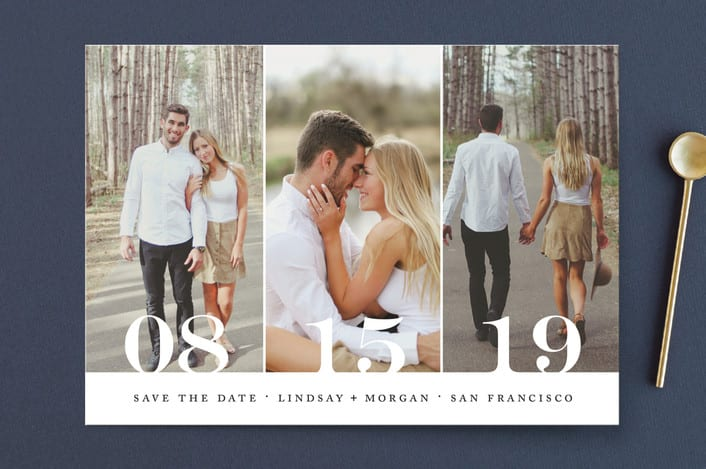 Save The Date Trio Card - Minted