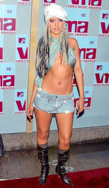 award show looks Christina Aguilera
