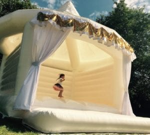 Kids will love your wedding bouncy house