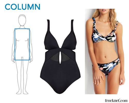 best swimsuit column shape