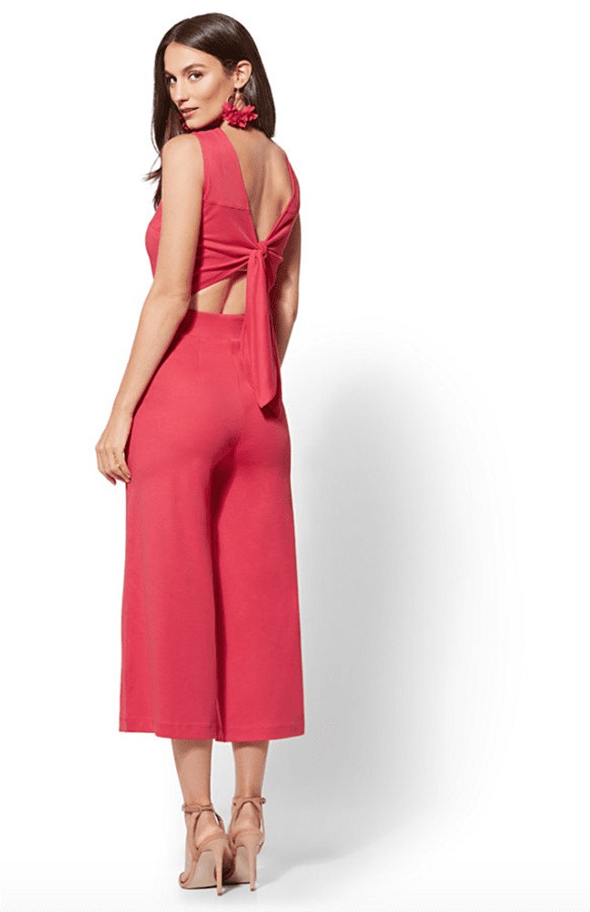Tie-Back Culotte -stylish Jumpsuits For Women
