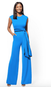 jumpsuits for woman - 7th Avenue Piped Belted Jumpsuit