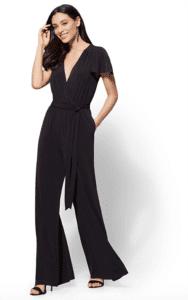 jumpsuits for woman - V-Neck Wrap Jumpsuit