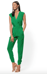 jumpsuits for woman - green wrap