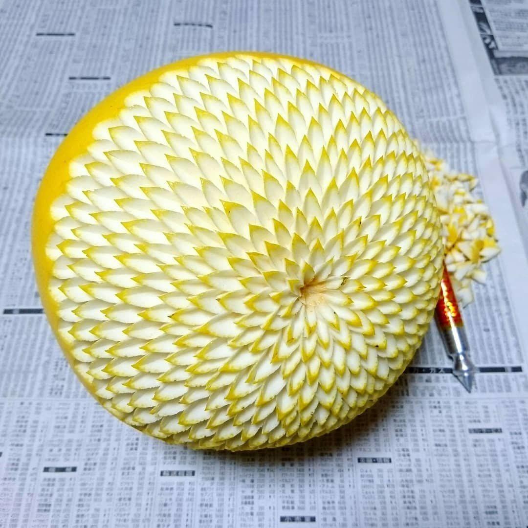 lemon fruit carving idea