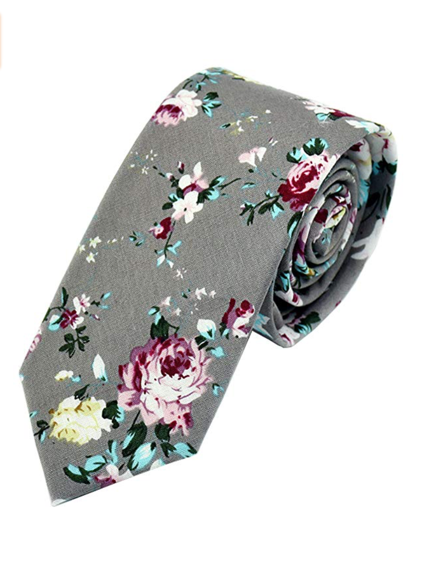 mens floral neck tie for casual or formal occasion