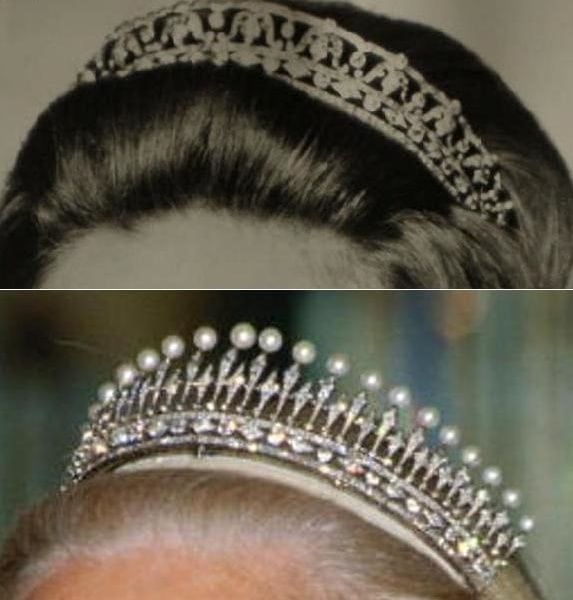 royal tiaras Kent Diamond and Pearl Fringe