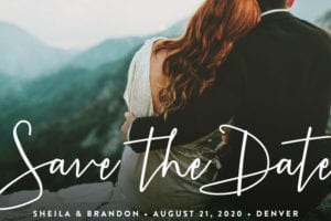save the date stylish script - Minted