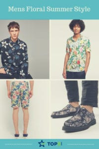 summer style with florals for men