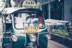 become a digital nomad in Bangkok taxi