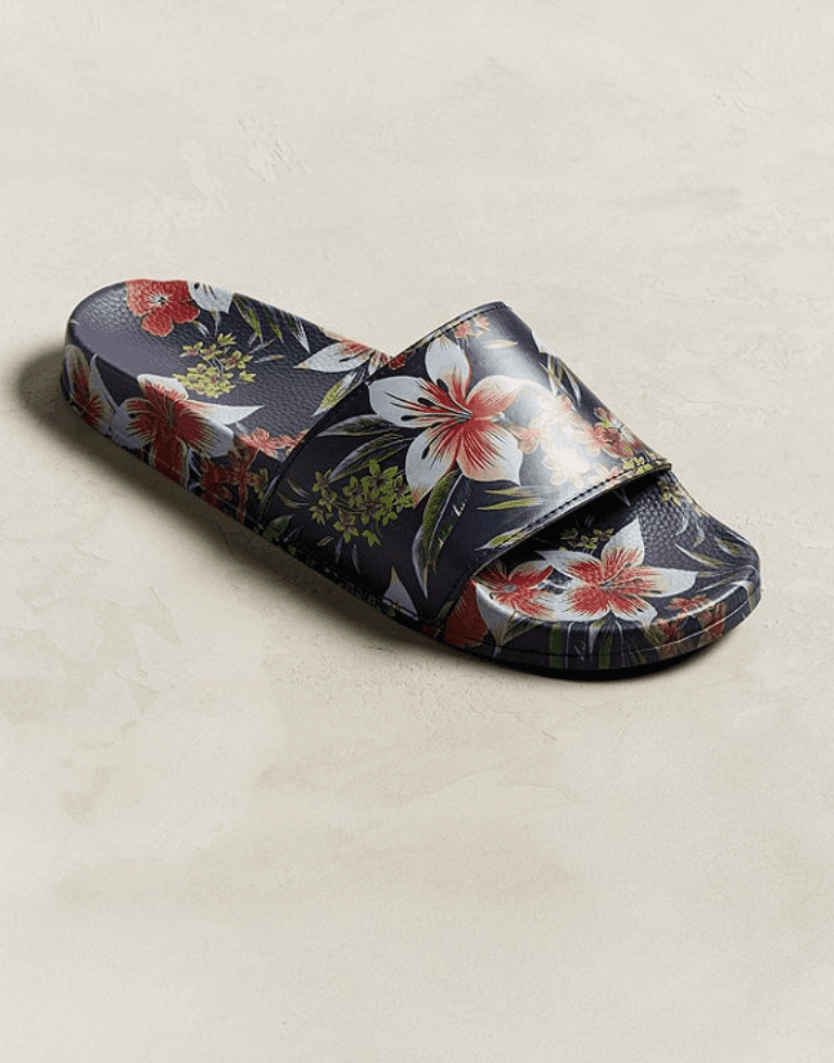 sandals with mens floral pattern