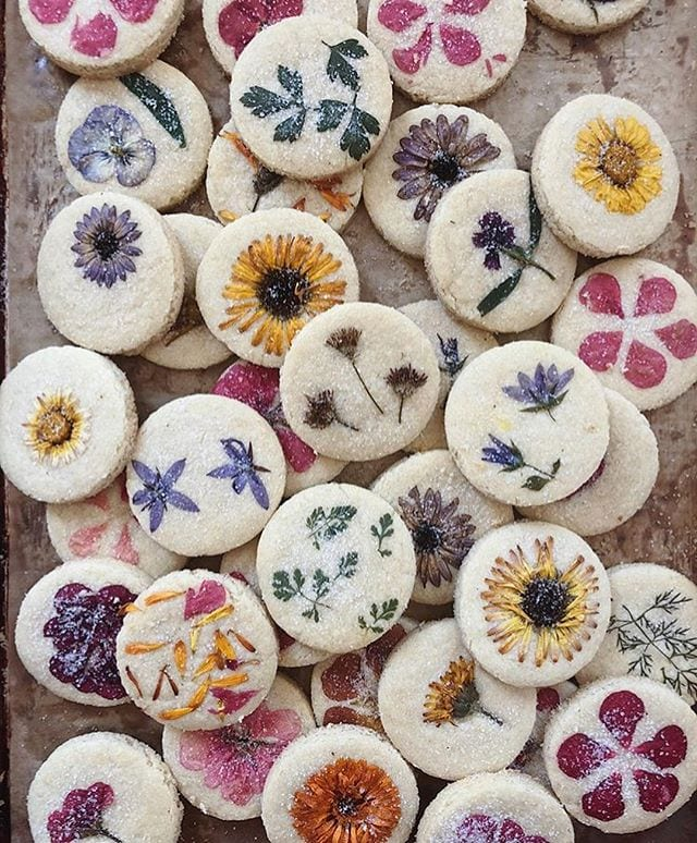 Best Viral Food Artists Lori Stern Edible Flower Cookies