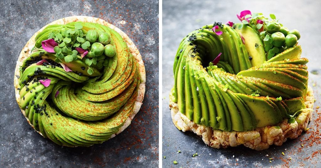 Viral Food Artists Food Deco Avocado Roses