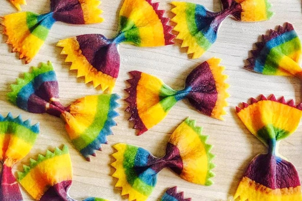 Viral Food Artists Salty Seattle Rainbow Pasta