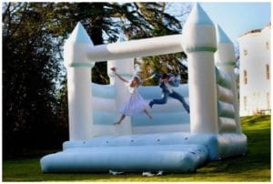 Wedding bouncy castles make weddings so much more fun