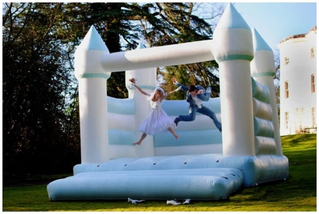 Wedding bouncy castles make weddings so much more fun