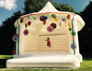 Kids will love the wedding bouncy house