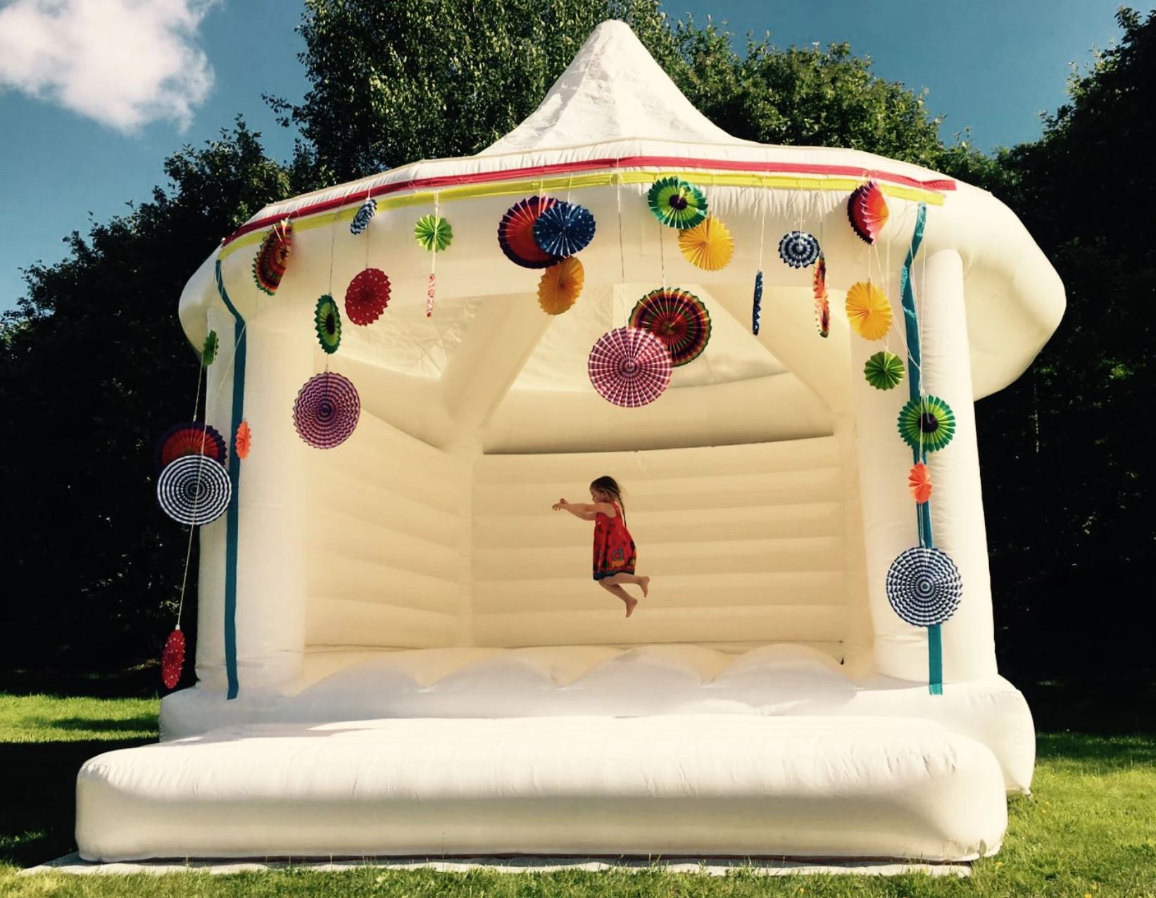 Kids will love thewedding bouncy house