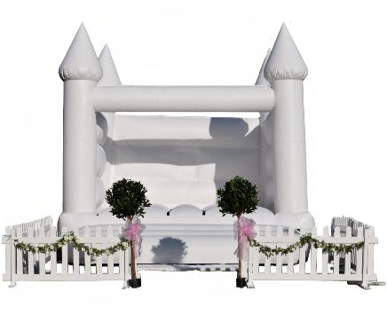 Say your vows inside the wedding bouncy house