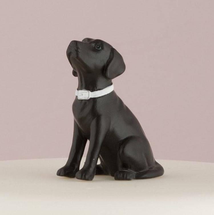 wedding cake topper with dog Black Lab