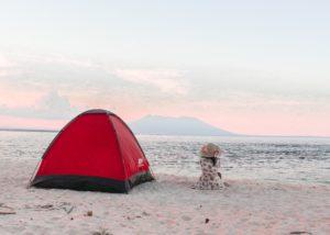 beach camping rent tent