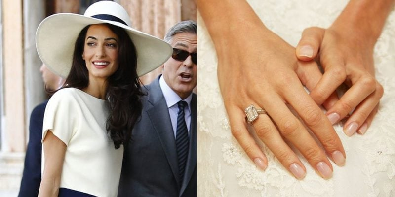 celebrity engagement ring: Amal Clooney
