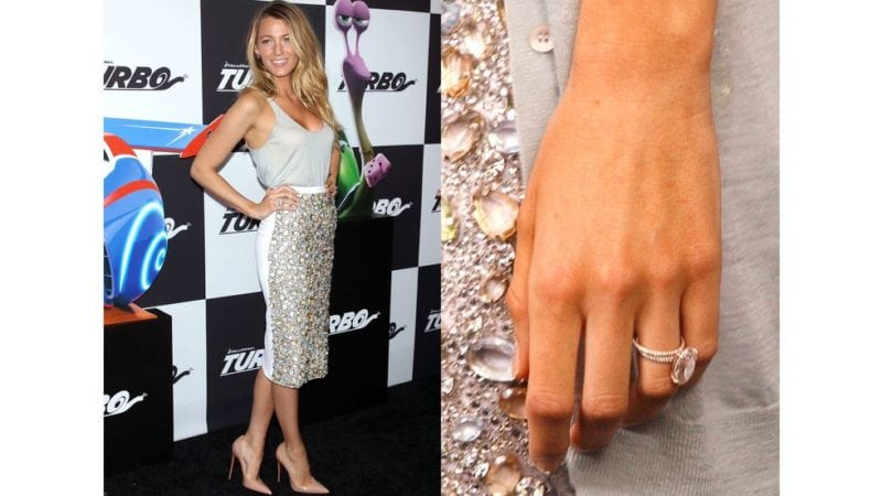 "Prominent Engagement Rings: Blake Lively ""Width ="" 800 ""Height ="" 450"