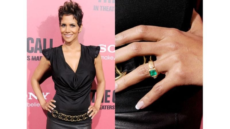 "Prominent engagement rings: Halle Berry ""width ="" 800 ""height ="" 450"