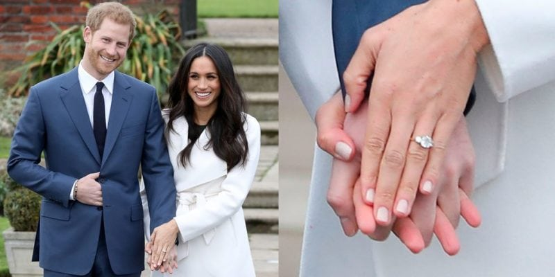 """Celebrity engagement rings: Meghan Markle """"width ="""" 800 """"height ="""" 400"""