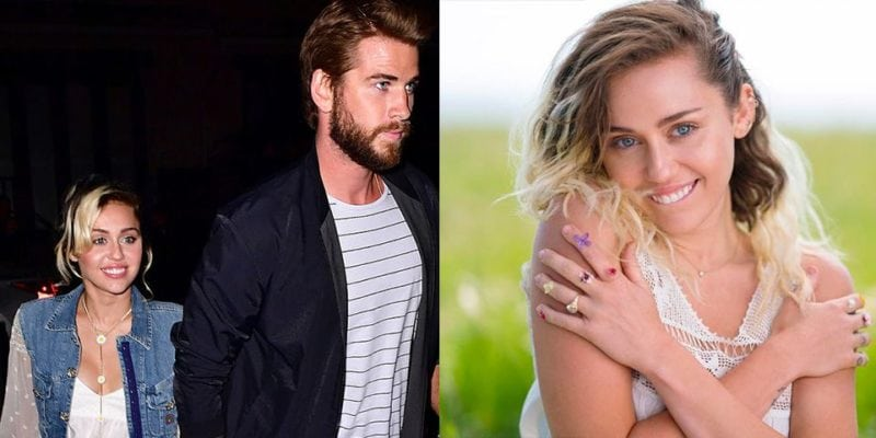 """Celebrity Engagement Rings: Miley Cyrus """"width ="""" 800 """"height ="""" 400"""