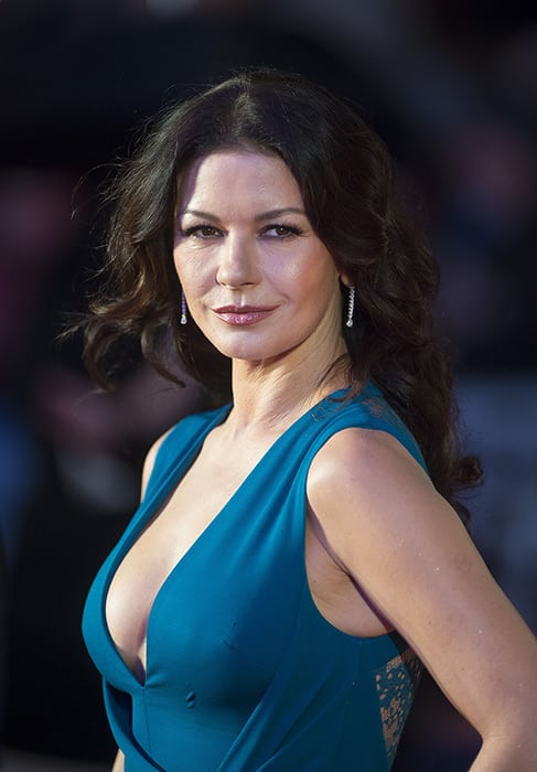 "Secrets to Celebrity Skin Care Catherine Zeta-Jones ""width ="" 487 ""height ="" 700"