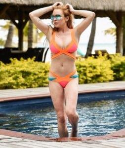 celeb bikini bod Lindsay Lohan