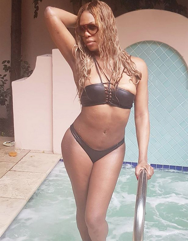 celeb bikini bod Laverne Cox