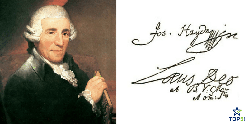 signatures of musicians joseph haydn