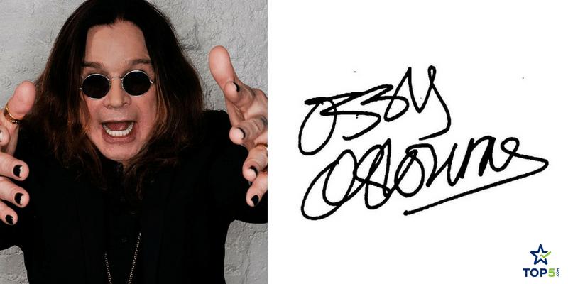 unique autographs ozzy osbourne