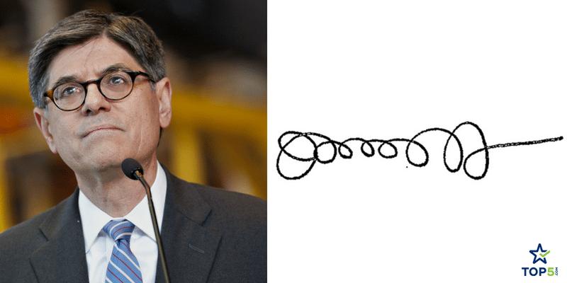 politicians signatures jacob joseph lew