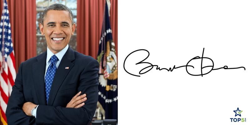 politicans autographs barack obama