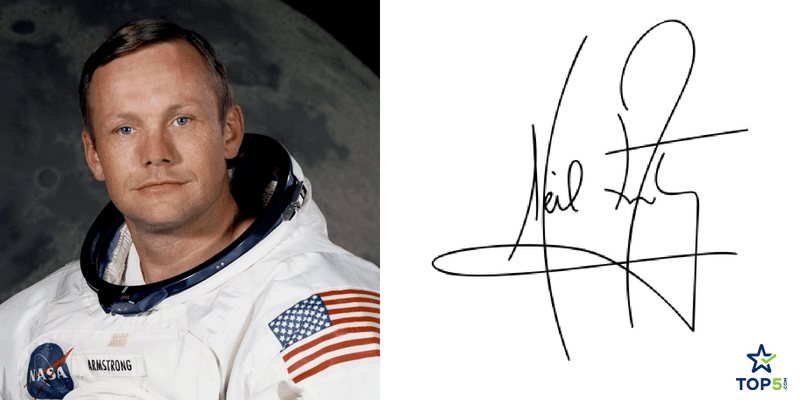 famous astronauts signatures neil armstrong