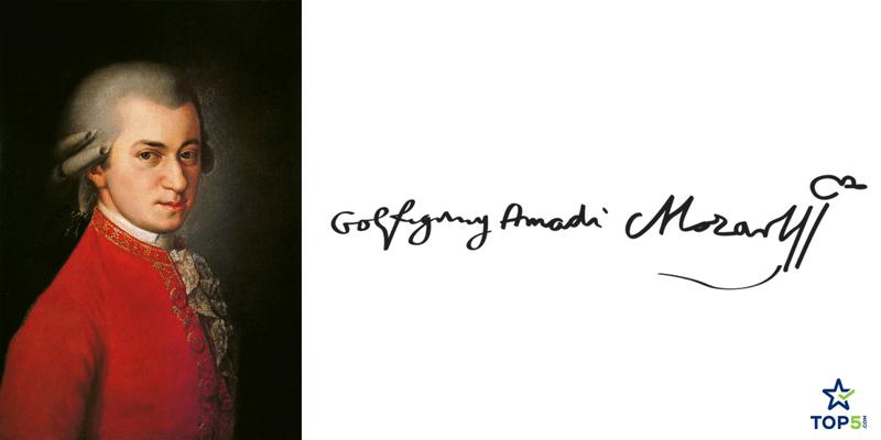 famous musicians autographs wolfgang amadeus mozart