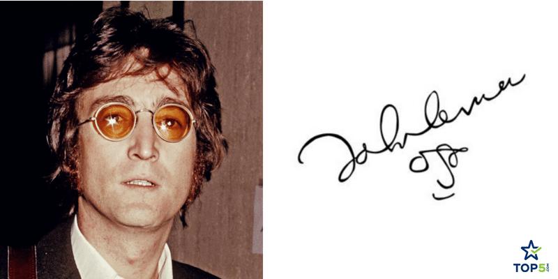 famous musicians autographs john lennon