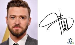 celebrity autographs Justin Timberlake