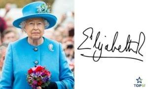celebrity autographs Queen Elizabeth II
