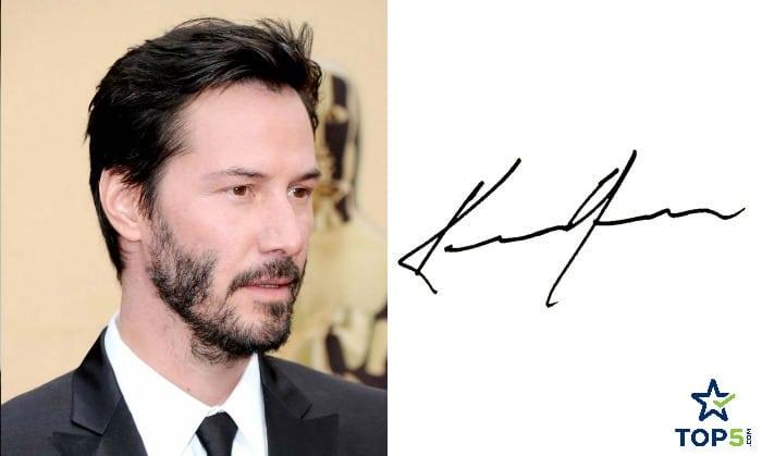 celebrity autographs Keanu Reeves