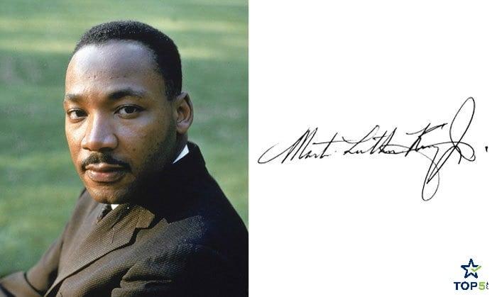 celebrity autographs Martin Luther King Jr.